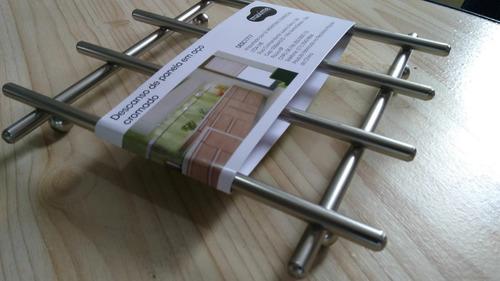 descanso suporte para panela travessas para mesa em aço