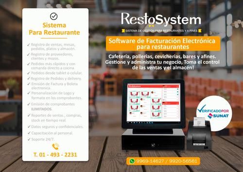 descarga gratis sistema restaurantes facturacion electronica