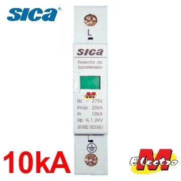 descargador tension pararrayo rayo 10ka sica electro medina