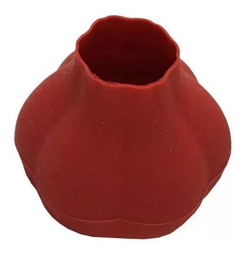 descascador de alho em silicone vermelho - prana