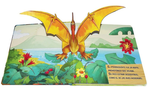 descubre el mundo pop up. libros. animales prehistóricos.