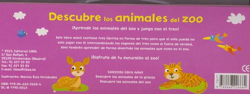 descubre los animales del zoo.3 libros duros.