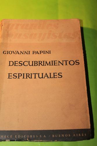 descubrimientos espirituales  giovanni papini