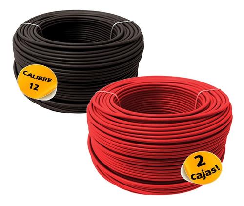 descuento: dos cajas cable calibre 12 cada una 100m alucobre