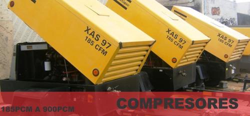 desde 185 pcm a 900 pcm compresor de aire portatil