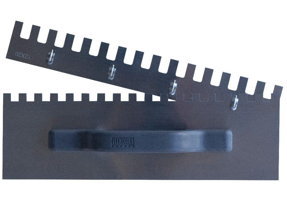 Desempenadeira De Aço Dentada 350mm Kit 3 Em 1 Flextools