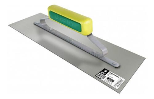 desempenadeira em aço inox 12x40cm para massas e texturas cabo fechado - galo