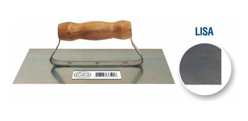 desempenadeira lisa em aço 12x24 cabo madeira - metasul