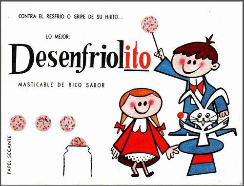 desenfriolito antiguo secante publicidad decada 1950