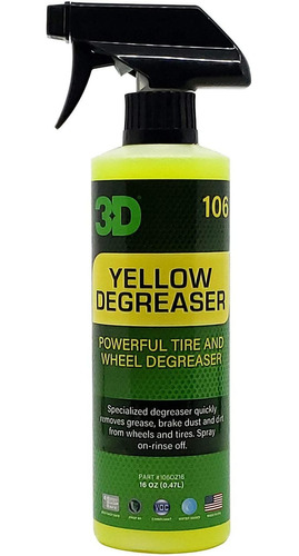 desengrasante 3d amarillo para ruedas y neumáticos, desengra