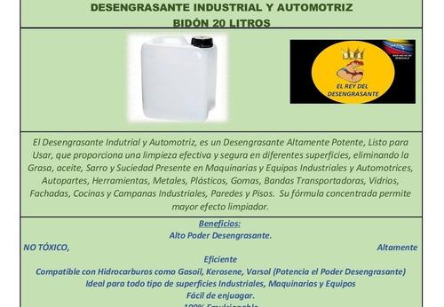 desengrasante industrial fab. en usa.biodegradable (20 ltrs)