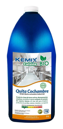 desengrasante quita cochambre biodegradable kosher ind. 5l