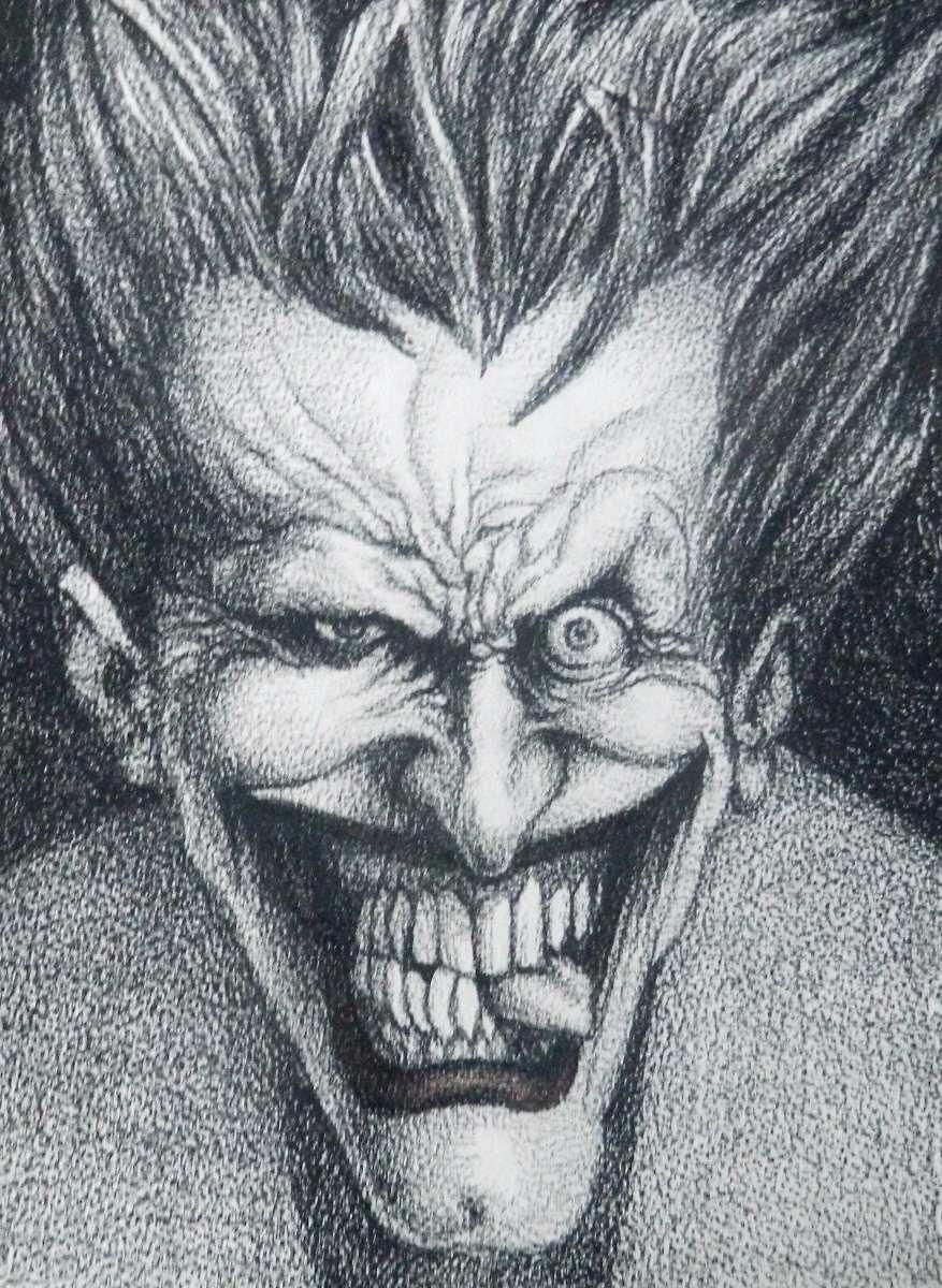 Desenho Coringa Dc Comics 35x25cm R 700 00 Em Mercado Livre