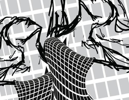desenho digital op art bailarinas
