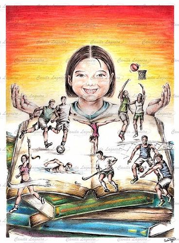 desenho esporte cor educação