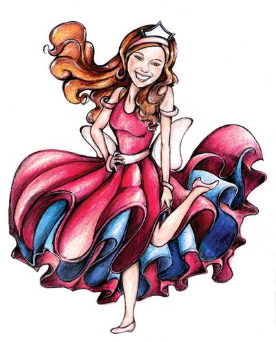 desenho ilustração menina colorido