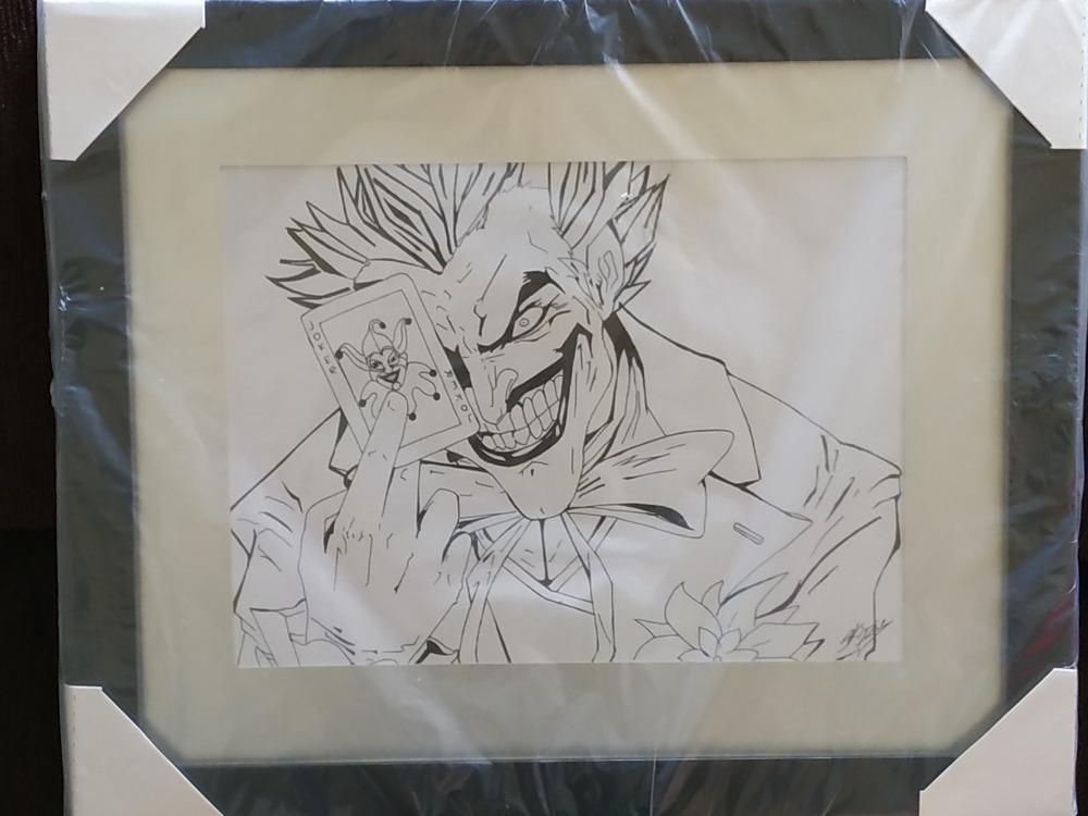 Desenho Joker Coringa Feito A Mao Moldura R 160 00 Em