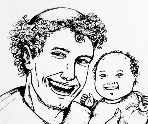 desenho nanquim santo antônio