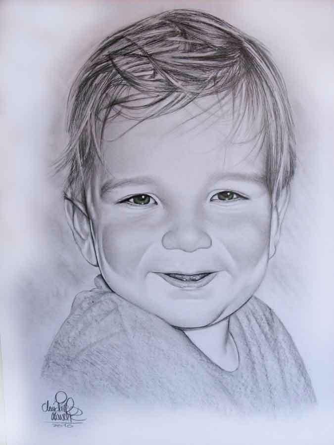 Desenho Realista Apenas No Tamanho A4 P Pessoa Desenhada