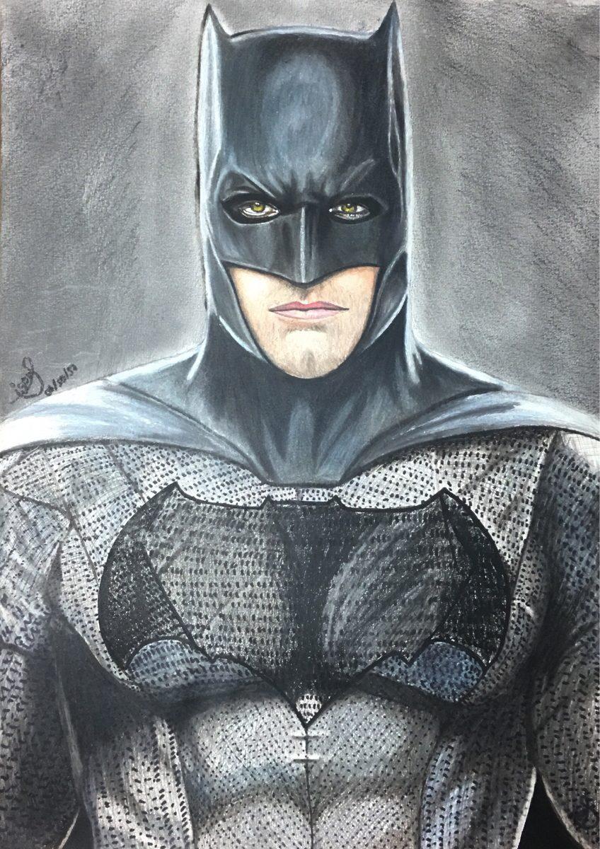 Desenho Realista Colorido Batman Folha A3 R 150 00 Em Mercado Livre