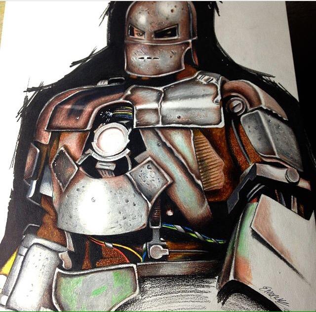 Desenho Realista Homem De Ferro Iron Man Marvel