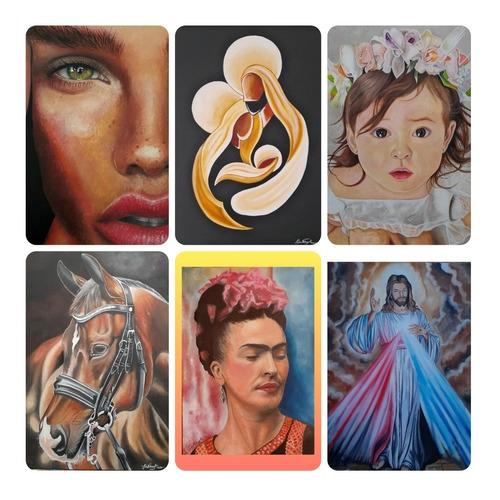 desenhos ou pinturas realistas , encomendas