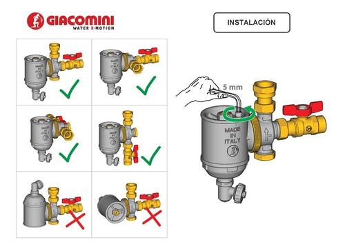 desfangador caldera mural giacomini r146c 3/4 pulgada código r146cx004 elimina impureza en instalación el rey del clima