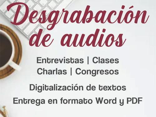 desgrabaciones de audio a texto - digitalizaciones