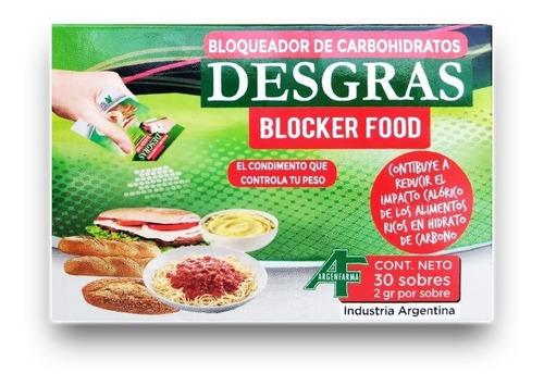 desgras blocker food 30 sobres suplemento dietario