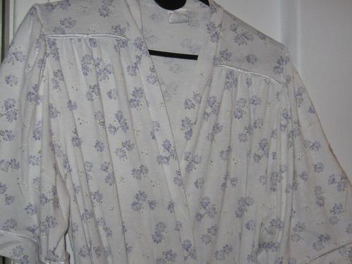 deshabillé de algodón para sra. muy buen estado t.48/50