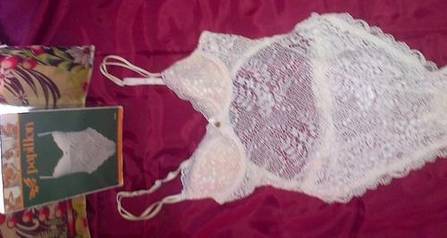 deshabillé italiano encaje papillon ropa intima novia ajuar