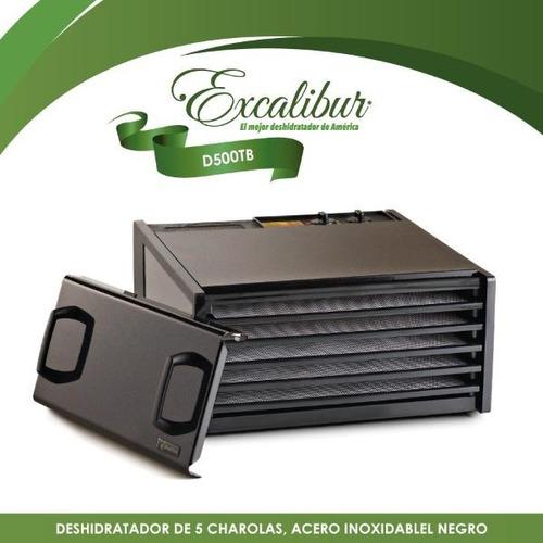 deshidratador 5 charolas acero inoxidable excalibur d500tb