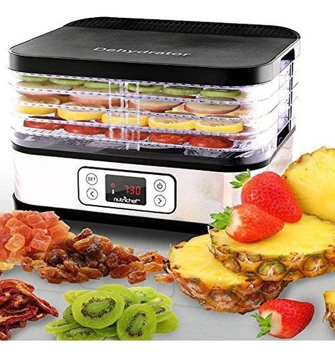 deshidratador alimentos digital 5 bandejas nutrichef pkfd32