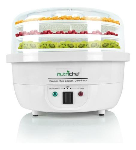 deshidratador de alimentos 3 en 1 eléctrica de cocina blanco