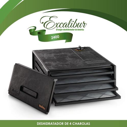 deshidratador de alimentos 4 charolas p/negra excalibur 2400