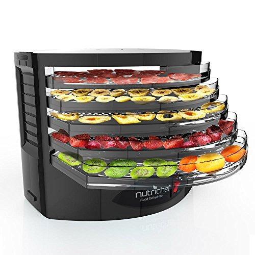 deshidratador de alimentos nutrichef eléctrico 5 bandejas