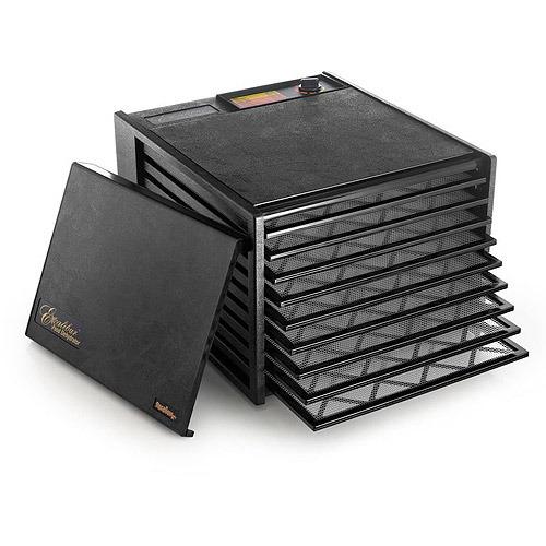 deshidratador de lujo excalibur 3900b de 9 bandejas, negro