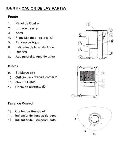 deshumedecedor mecanico 10l imaco mod. dhm2610