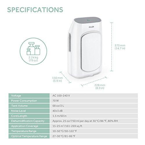 deshumidificador isiler - deshumidificador portatil