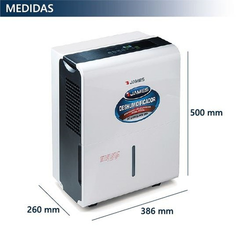deshumidificador james 30 lts digital area hasta 72m2 pcm