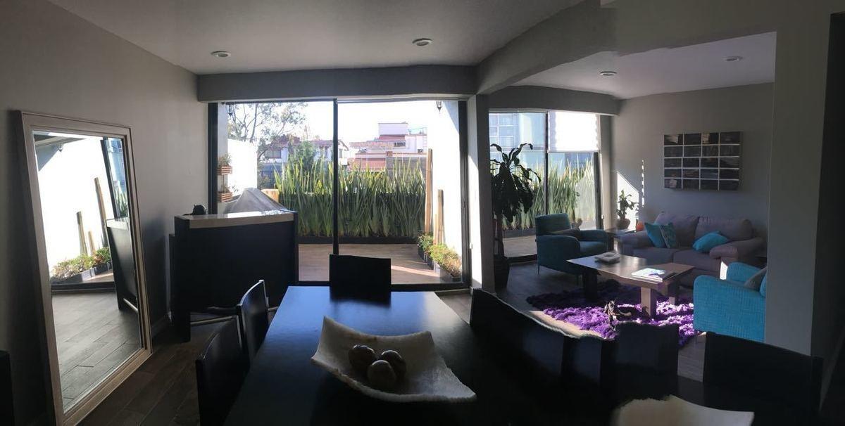 desierto de los leones, iluminado garden house con terraza