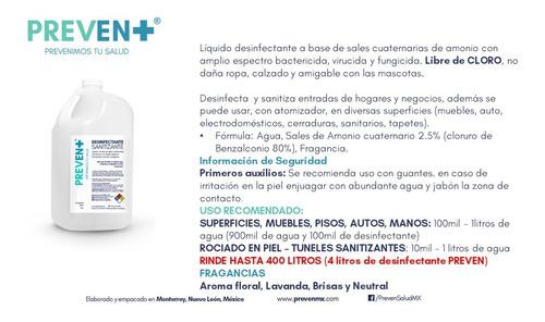 desifectante sanitizante 4lt a base de amonio cuaternario