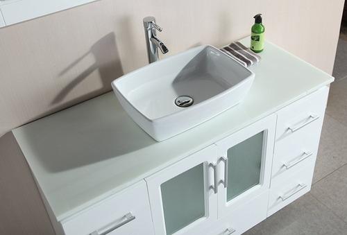 Design Element Stanton Single Vessel Sink Vanity Set With Wh