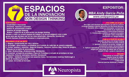 design thinking - neuropista - edición verano 2019