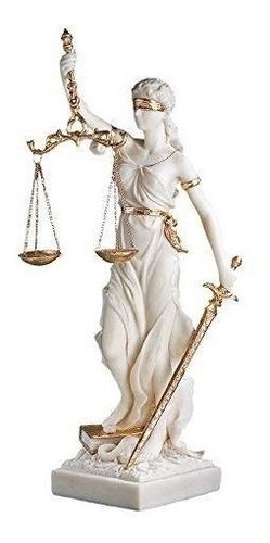design toscano  estatua de la justicia ciega, de mármol
