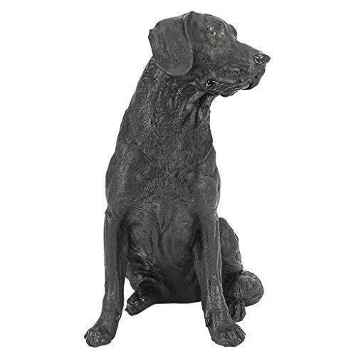 design toscano negro labrador retriever perro estatua, multi