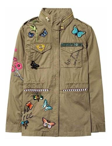 desigual chaqueta nueva verde 42 con envío
