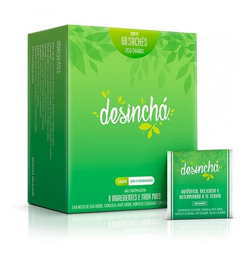 desinchá chá antioxidante leve e refrescante 60 sachês