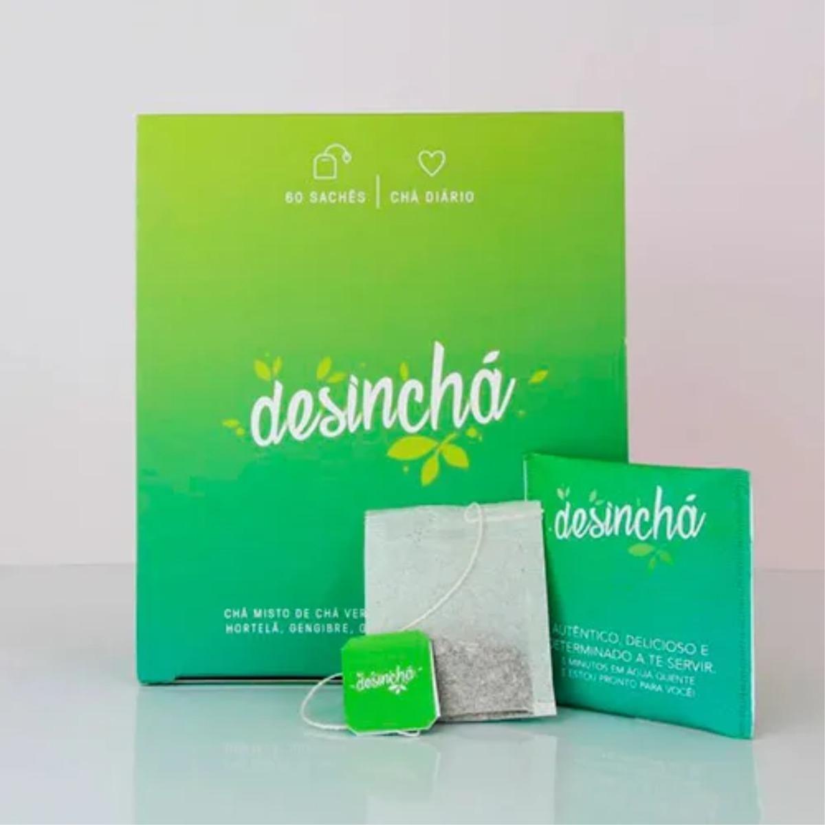Desincha Cha Original 60 Saches Pronta Entrega R 65 99 Em Mercado Livre