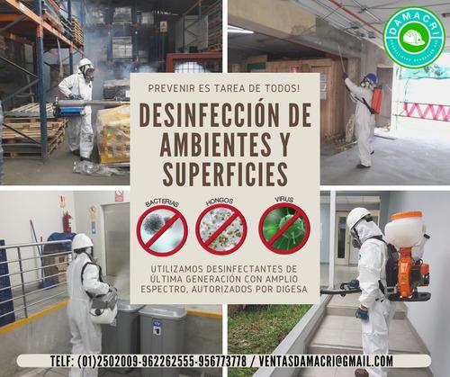 desinfeccion contra virus, hongos, bacterias -oferta